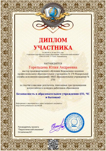 Наградной документи № 248248