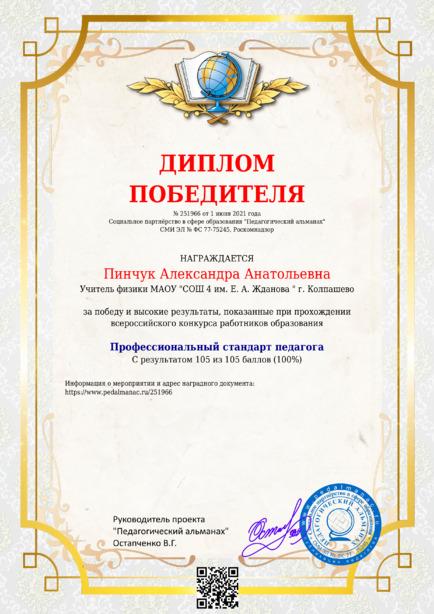 Наградной документи № 251966