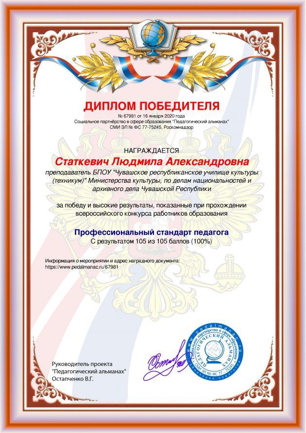 Наградной документи № 67981